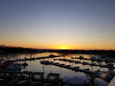 Treasure Cove Resort Marina Winter Sunset