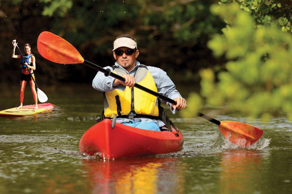 Kayacking and Paddle Boarding